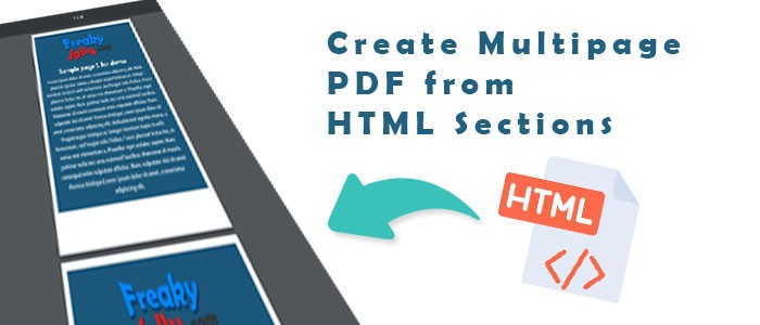 How to Create Multipage PDF from HTML Using jsPDF and html2Canvas
