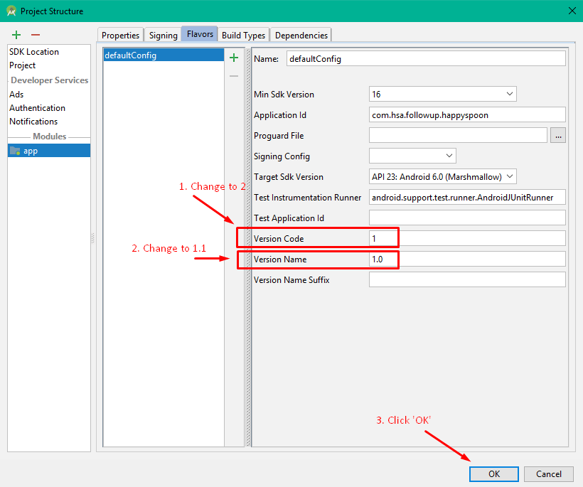 Change Version Number of App in Android Studio v 3 1     Freaky Jolly