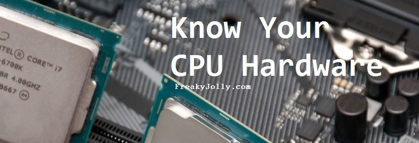 Check Hardware Details of CPU using Small Utility