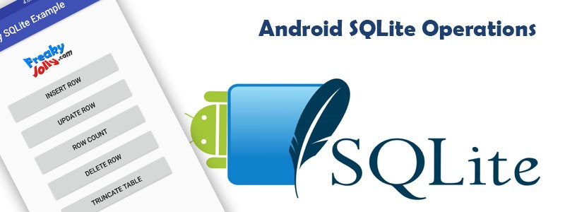 Android SQLite Example Application Insert Update Delete Truncate Operations