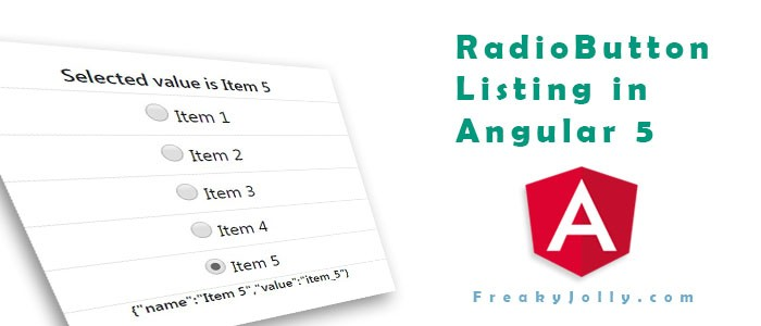 How to Show Radio Input Listing in Angular 6
