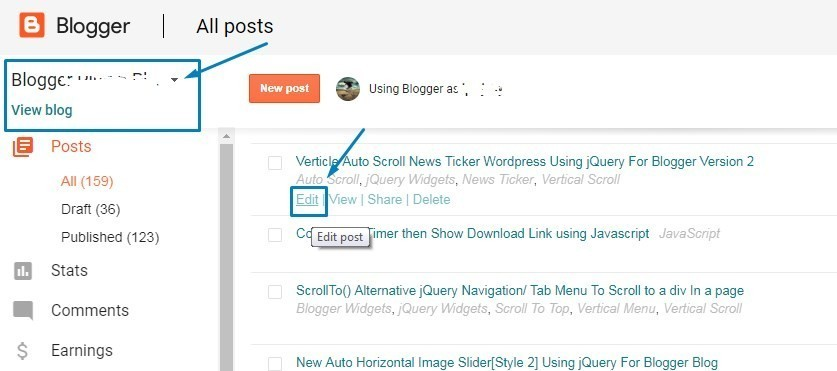 How to Redirect Single Blogger Post to External URL