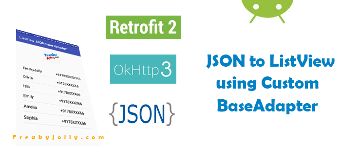 Create Multiple Columns ListView from JSON Data using Retrofit2 in Android Example