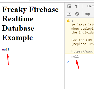 Implement Realtime Firebase Database in a Webpage from Scratch