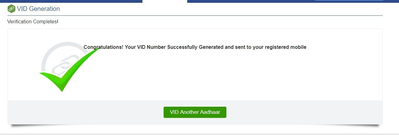 How to Generate Aadhaar Virtual ID (VID) in 2 Steps
