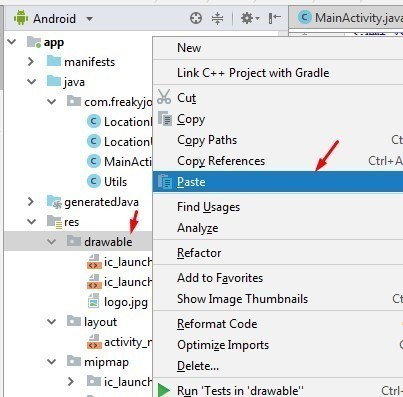 Android   How to Add New Images in Android Studio Project 3.2