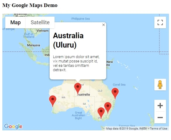 Embed Google Maps with Multiple Markers and InfoWindows