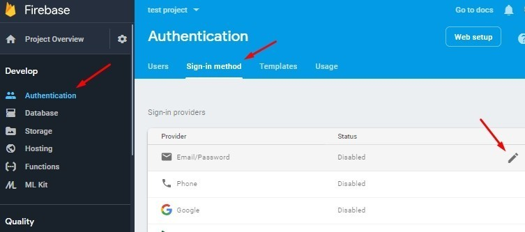 Ionic 5|4 Firebase Authentication using Email & Password for Login and Registration of Users