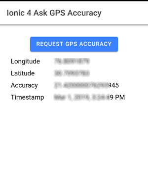Ionic 4 | Turn on Device GPS in Ionic 4 Application Without
