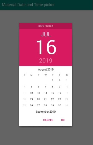 Android Material Datepicker and Timepicker by Wdullaer