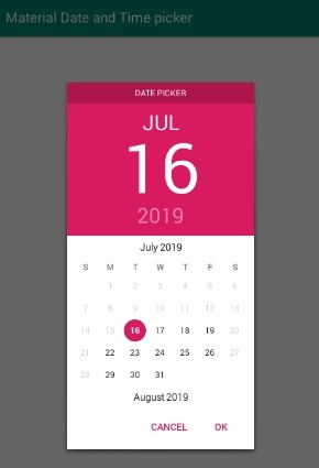 Android Material Datepicker and Timepicker by Wdullaer Tutorial by Example