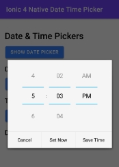 Ionic 5 Datepicker & Timepicker using Cordova, Native plugin Tutorial with Example