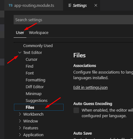 VS Code | How to hide Spec.ts/ Test files from Sidebar File explorer