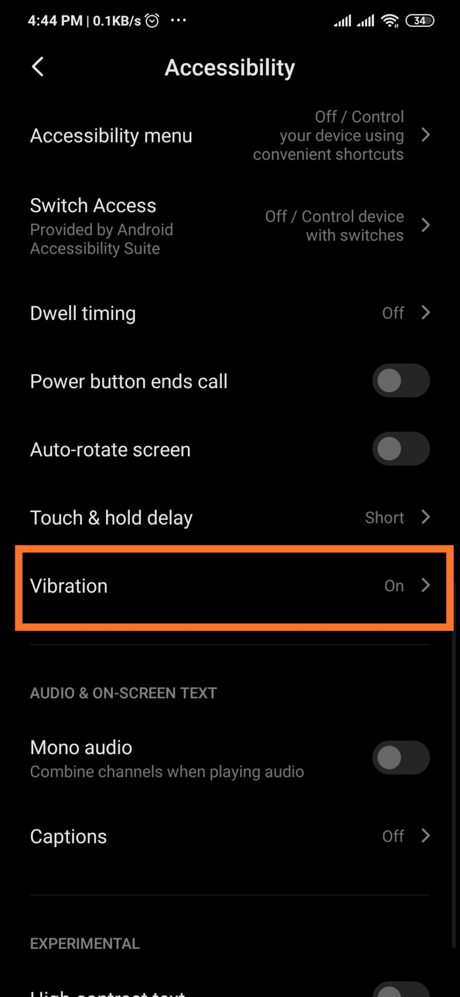 MIUI 11   Disable Vibration during Game or Silent Mode for Haptic Feedback