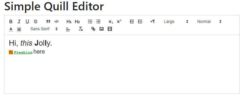 Angular 8|9 Rich Text Editor using Ngx-Quill Example Tutorial