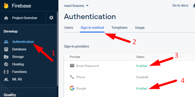 React Sign In using Firebase Google Authentication