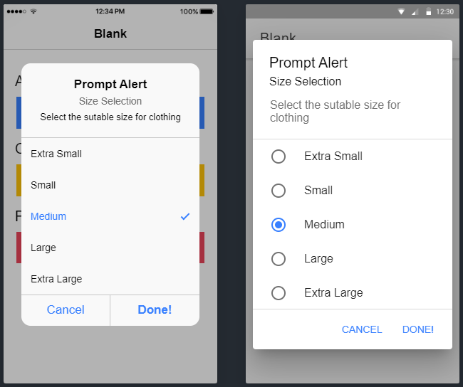 Ionic 5 Alert, Confirm and Prompt Component Tutorial with Example Application