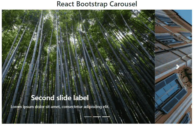 React Bootstrap 4 Carousel/ Image Slider Event Handling and Options Example Tutorial