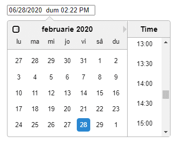 React Datepicker and Timepicker Component with Validation using react-datepicker Example Application
