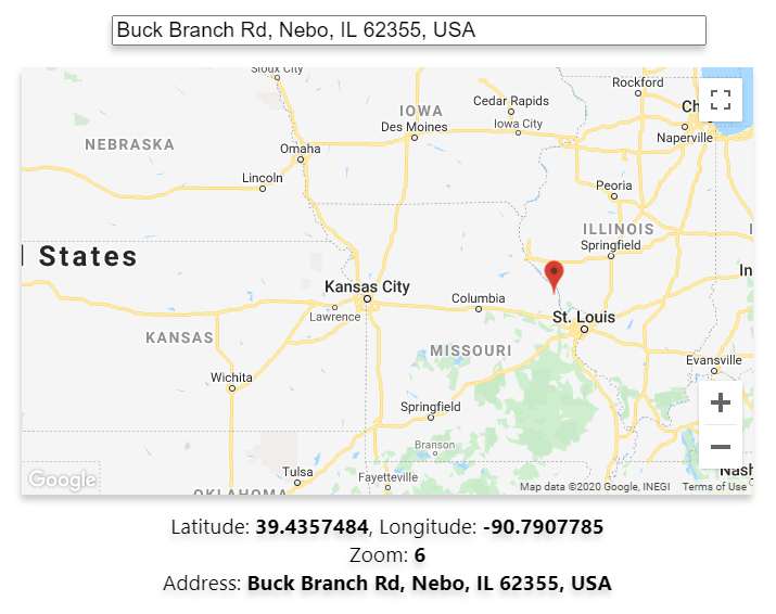 Google Maps in React with Places Search Bar, Draggable Marker using google-map-react
