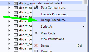 How to Debug Stored Procedures in SQL Server using Visual Studio 2019